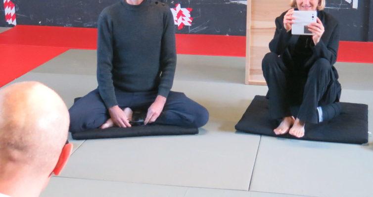 séance d'initiation à la pratique de zazen à Rosny